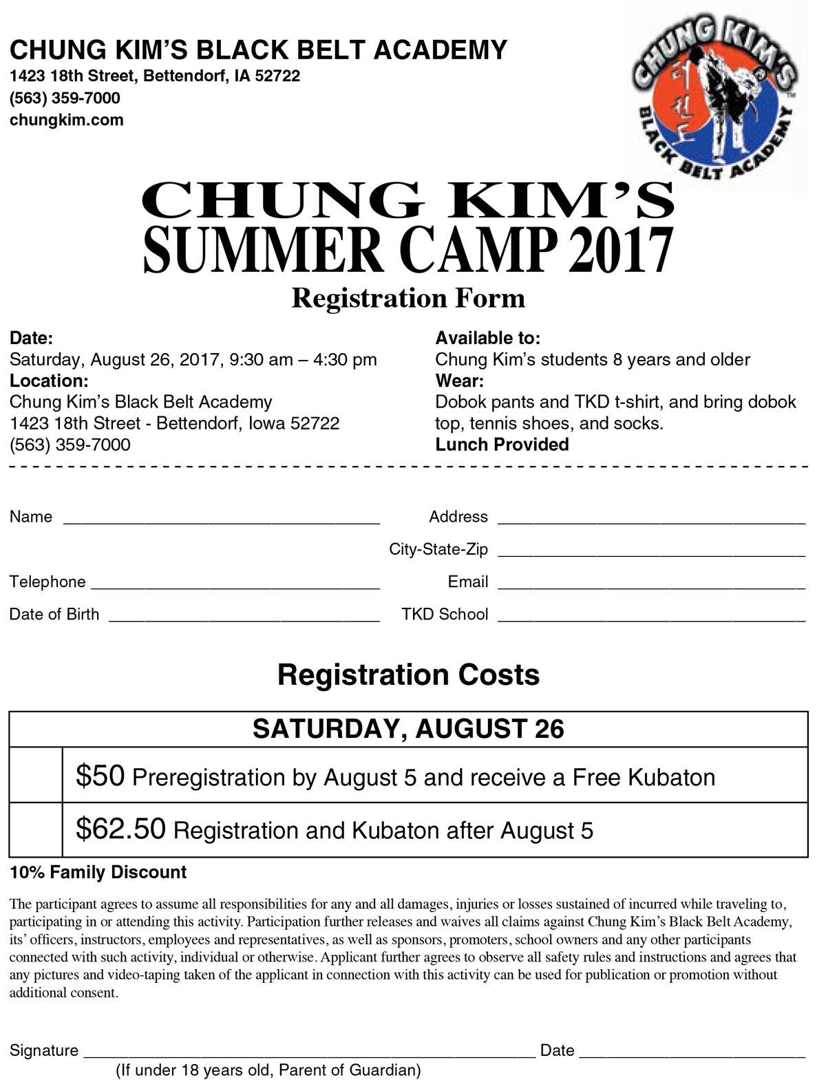 chung kim's summer camp